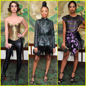 Adelaide Kane & Skai Jackson Dress to Impress at Wolk Morais Fashion Show