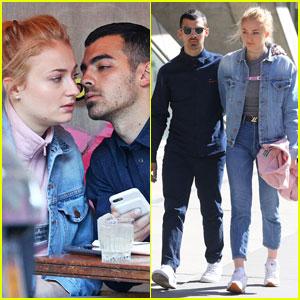 Sophie Turner & Joe Jonas Kiss Over Lunch in NYC