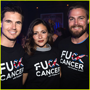 Italia Ricci, Robbie & Stephen Amell Host First F Cancer Event in London