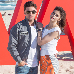 Zac Efron & Alexandra Daddario Hit the Beach for 'Baywatch' Promo
