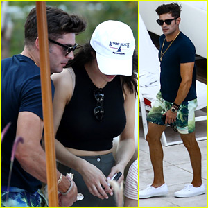 Zac Efron Enjoys the Warm Miami Weather with Alexandra Daddario
