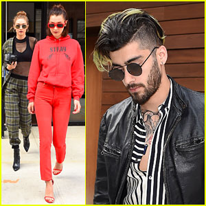 Gigi Hadid Hangs Out With Boyfriend Zayn Malik & Sister Bella