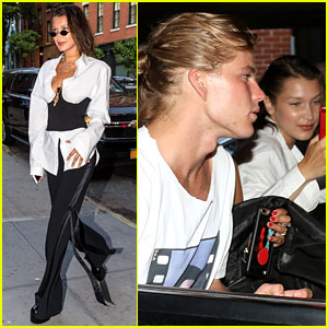 Bella Hadid & Male Model Jordan Barrett Spend the Day in NYC
