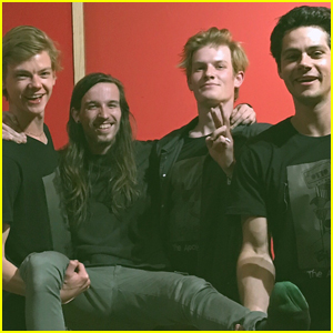 Maze Runner's Dylan O'Brien & Thomas Brodie-Sangster Jam Out Together in Cape Town