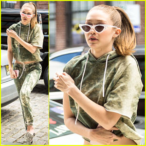 Gigi Hadid Shows Us How to Slay Head-to-Toe Acid Wash