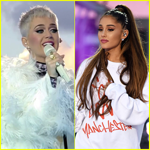 Katy Perry & Ariana Grande Share an Emotional Hug Backstage at Manchester One Love