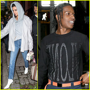Kendall Jenner & A$AP Rocky Wear Matching Bling on Their Ring Fingers