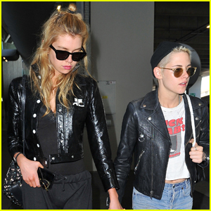 Kristen Stewart & Girlfriend Stella Maxwell Jet to Paris Together!