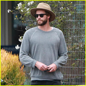 Liam Hemsworth Looks Adorable in His Hat While Out With Family