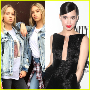 Lisa & Lena Met Sofia Carson & Of Course They Filmed a Musical.ly Together
