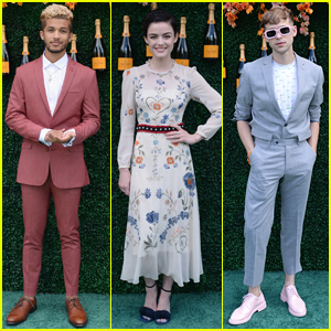Lucy Hale Joins Jordan Fisher & Tommy Dorfman at the Veuve Clicquot Polo Event