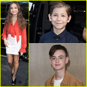 Maddie Ziegler, Jacob Tremblay, & Jaeden Lieberher Promote 'Book of Henry' in NYC