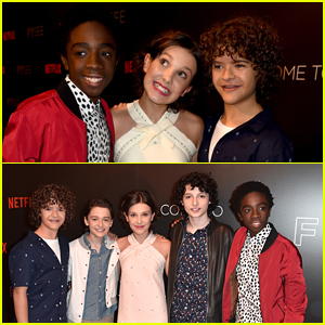 Millie Bobby Brown Joins Her 'Stranger Things' Co-stars at a Netflix Event!