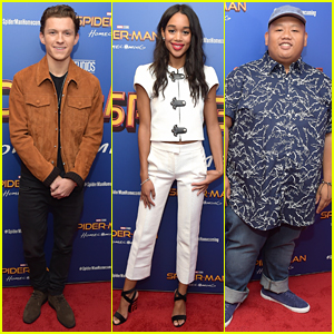 Tom Holland, Laura Harrier, & Jacob Batalon Team Up for Special 'Spiderman' Screening