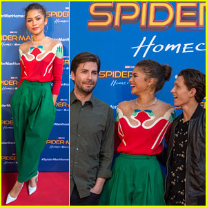 Tom Holland & Zendaya Laugh at 'Spider-Man' Director at Barcelona Photo Call