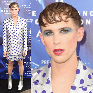 Tommy Dorfman's Makeup is On Point at the Fragrance Foundation Awards