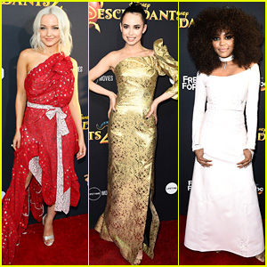 Dove Cameron, Sofia Carson, & China Anne McClain Stun at 'Descendants 2' Premiere!