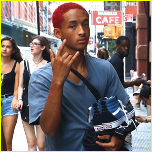 Jaden Smith Debuts Red Hair While Out in NYC