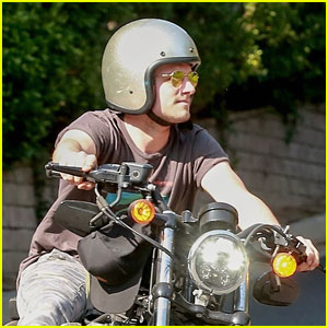 Josh Hutcherson Enjoys Holiday Weekend With Bike Ride