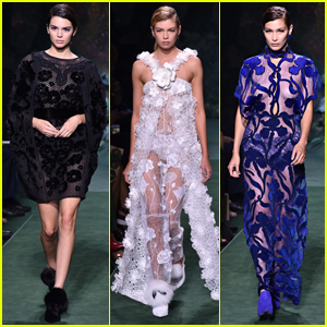 Kendall Jenner, Stella Maxwell, & Bella Hadid Slay the Fendi Fashion Show