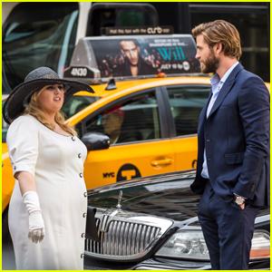 Liam Hemsworth Almost Hits Rebel Wilson While Filming 'Isn't It Romantic'