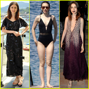 Lily Collins Is the Rising Star in Ischia!