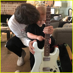 Louis Tomlinson Is Already Teaching Son Freddie How To Play Guitar