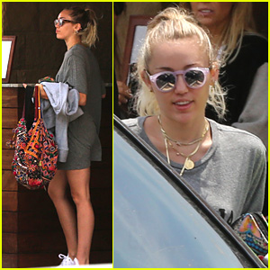 Miley Cyrus Grabs Lunch With Mom & Sister After Getting New Tattoo