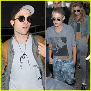 Exes Kristen Stewart & Robert Pattinson Run Into Each Other on Flight to L.A.
