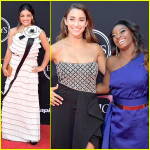 Simone Biles & Aly Raisman Hit The ESPYs 2017 Red Carpet Together!