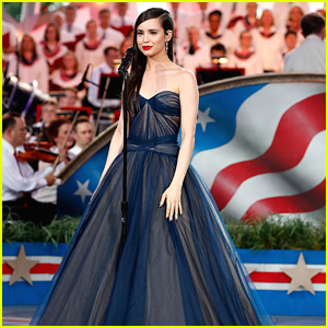 Sofia Carson Performs National Anthem at Capitol Fourth Concert - Watch!
