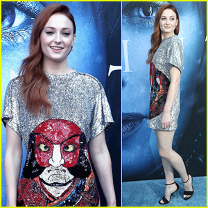 Sophie Turner Sparkles in a T-Shirt Dress at the 'Game of Thrones' Premiere!