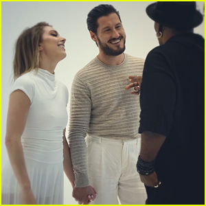 Jenna Johnson & Val Chmerkovskiy Hold Hands in BTS Pics For Gorgeous New PhotoShoot