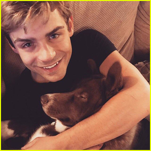 Garrett Clayton Celebrates His Puppy Dart's First Birthday!