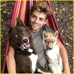 Garrett Clayton Cuddles With His Pups & We Can't Handle the Cuteness