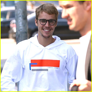 Justin Bieber Shows Off His Gorgeous Smile Before Church