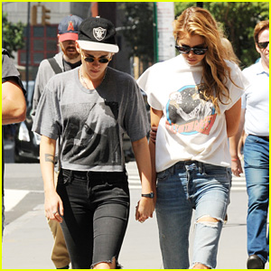 Kristen Stewart & Stella Maxwell Couple Up for Stroll Around Town
