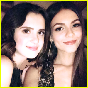 Laura Marano & Victoria Justice Are Perfect 'Seat Buddies' at 'harper by Harper's BAZAAR' Dinner