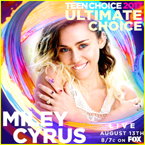 Miley Cyrus Will Be Honored With Ultimate Choice Award at Teen Choice This Weekend!