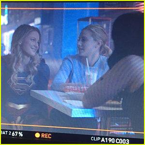 Supergirl's Melissa Benoist Visited 'Riverdale' In Her Super Suit & Now We Want a Crossover
