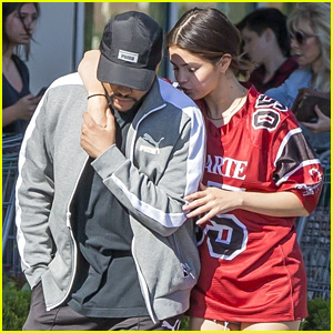 Selena Gomez Kisses The Weeknd's Shoulder While Running Errands