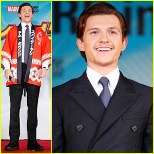 Tom Holland Shows Off Stache at 'Spider-Man: Homecoming' Tokyo Premiere!