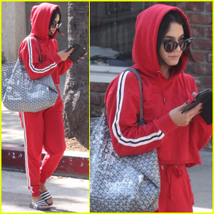 Vanessa Hudgens Keeps It Monochromatic at the Gym!