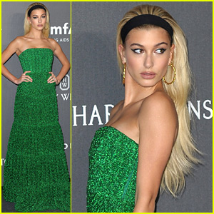 Hailey Baldwin Is a Green Goddess at amfAR Gala!