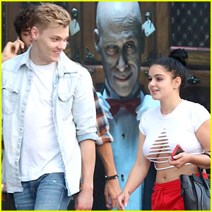Ariel Winter Steps Out in a Ripped Crop Top With Boyfriend Levi Meaden!