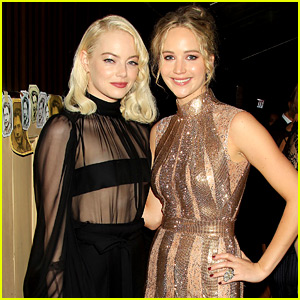 Emma Stone Supports Friend Jennifer Lawrence at 'mother!' Premiere Party!