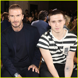 Brooklyn Beckham Attends His Mom's NYFW Show!