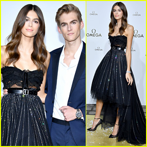 Kaia & Presley Gerber Make a Stunning Brother-Sister Duo During Paris Fashion Week