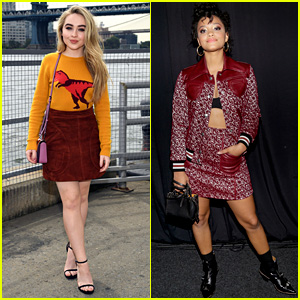 Sabrina Carpenter & Kiersey Clemons Doll Up for Coach Show!