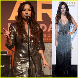 Demi Lovato & Victoria Justice Get Their Gala Glamour on for 'Brazilian Night' in NYC!